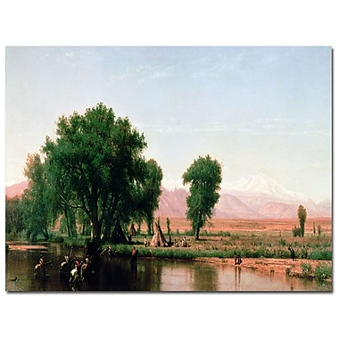 Trademark Fine Art Thomas Worthington, 'Crossing the Ford, Colorado' Canvas Art 22x32 Inches