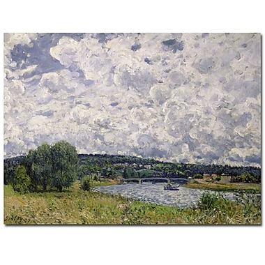 Trademark Fine Art Alfred Sisley 'The Seine Suresnes 1877' Canvas Art 35x47 Inches
