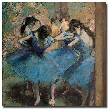 Trademark Fine Art Edgar Degas 'Dancers in Blue 1890' Canvas Art