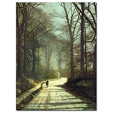 Trademark Fine Art John Grimshaw 'Moonlight Walk' Canvas Art
