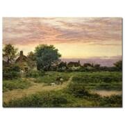Trademark Fine Art Benhamin Leader 'Worcestershire Cottages, 1912' Canvas Art