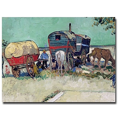 Trademark Fine Art Vincent van Gogh, 'Gypsy Encampment, Arles, 1888' Canvas Art