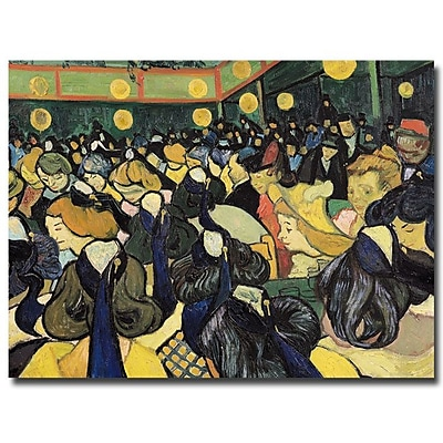 Trademark Fine Art Vincent van Gogh 'The Dance Hall at Arles 1888' Canvas Art