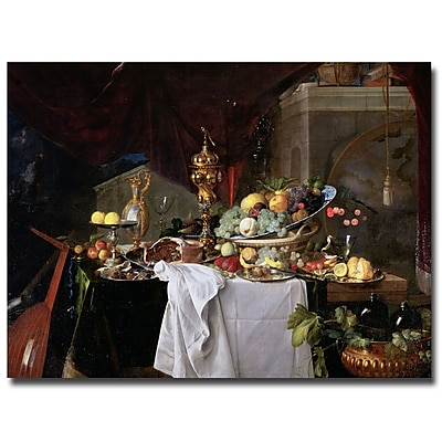 Trademark Fine Art Jan Davidz de Heem, 'Still Life, 1640' Canvas Art