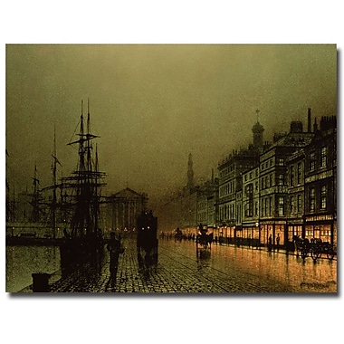 Trademark Fine Art John Grimshaw 'Hull Docks by Night' Canvas Art