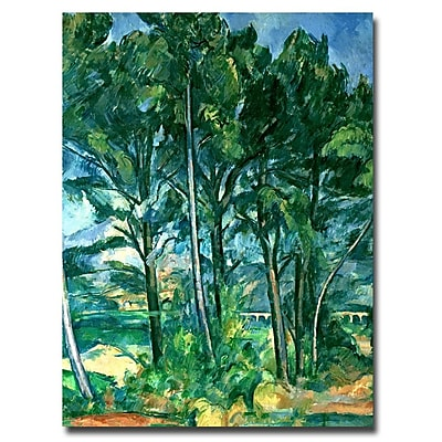 Trademark Fine Art Paul Cezanne 'The Aqueduct' Canvas Art 35x47 Inches