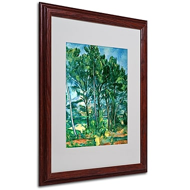 Paul Cezanne 'The Aqueduct' Matted Framed Art - 16x20 Inches - Wood Frame