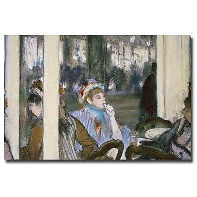 Trademark Fine Art Edgar Degas 'Women on a Cafe Terrace, 1877' Canvas Art
