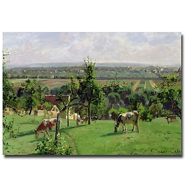 Trademark Fine Art Camille Pissarro 'Hillside of Vesinet, 1871' Canvas Art