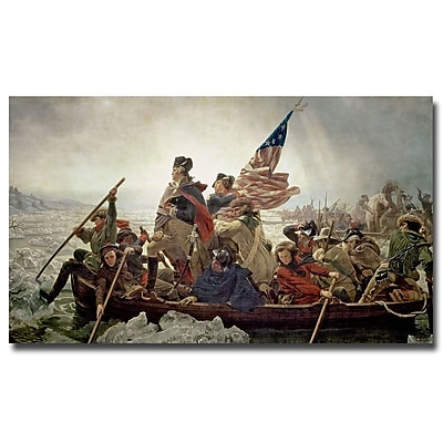Trademark Fine Art Emanuel Leutze 'Washington Crossing Delaware River in 1776' 14x24 Inches