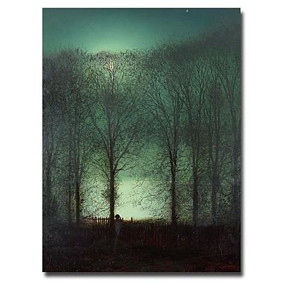 Trademark Fine Art John Atkinson Grimshaw 'Figure in the Moonlight' Canvas Art