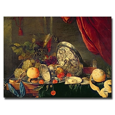 Trademark Fine Art Jan Davidz de Heem 'Still Life' Canvas Art