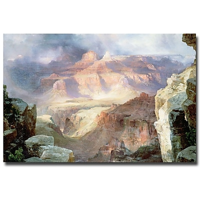 Trademark Fine Art Thomas Moran 'A Miracle of Nature 1913' Canvas Art 16x24 Inches