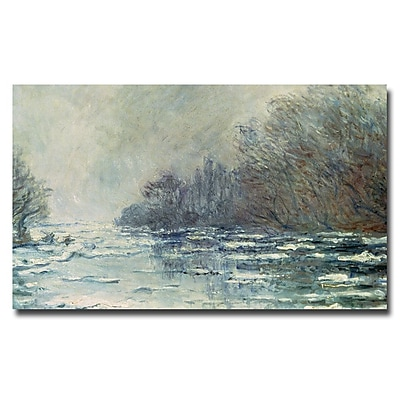 Trademark Fine Art Claude Monet 'The Break up at Vetheuil 1883' Canvas Art