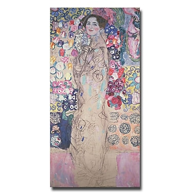 Trademark Fine Art Gustav Klimt 'Poetrait of Maria Munk' Canvas Art 16x32 Inches