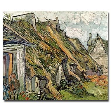 Trademark Fine Art Vincent van Gogh 'Cottages in Chaponval Auvers-sur-Oise'