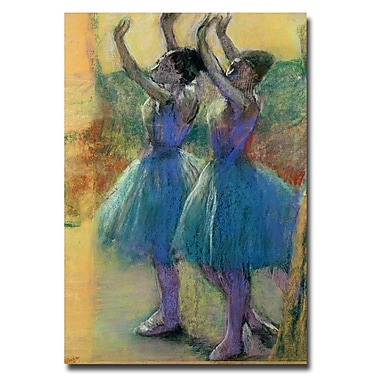 Trademark Fine Art Edgar Degas 'Two Blue Dancers' Canvas Art 22x32 Inches