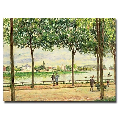 Trademark Fine Art Alfred Sisley 'Spanish Chesnut Trees by the River' Canvas