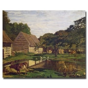 Trademark Fine Art Claude Monet 'A Farmyard in Normandy 1863' Canvas Art