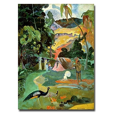 Trademark Fine Art Paul Gauguin 'Matamoe' Canvas Art 32x24 Inches