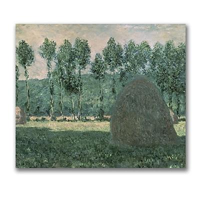 Trademark Fine Art Claude Monet 'Haystacks near Giverny 1884-89' Canvas Art
