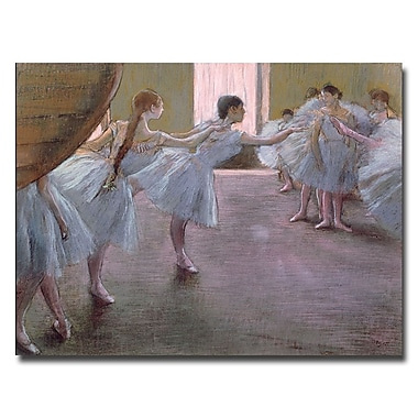 Trademark Fine Art Edgar Degas'Dancers at Rehearsal 1875-77'Canvas Art