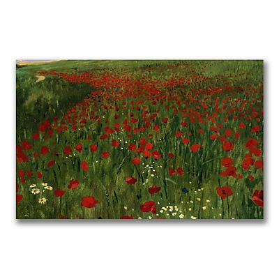 Trademark Fine Art Pal Szinyei Merse 'The Poppy Feild 1896' Canvas Art 18x32 Inches