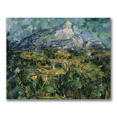 Trademark Fine Art Paul Cezanne 'Mont Sainte-Victoire' Canvas Art 18x24 Inches
