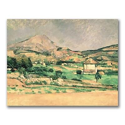 Trademark Fine Art Paul Cezanne 'Montagne Sainte-Victoire 1882-85' Ca 18x24 Inches