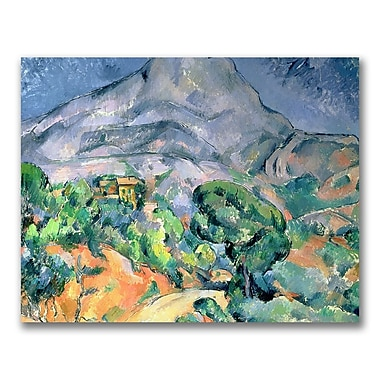 Trademark Fine Art Paul Cezanne 'Mount St.Victorie' Canvas Art 35x47 Inches