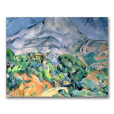 Trademark Fine Art Paul Cezanne 'Mount St.Victorie' Canvas Art 35x47 Inches