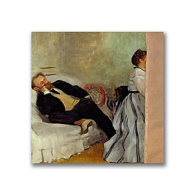 Trademark Fine Art Edgar Degas'Monsieur and Madame Edouard Manet' Canvas Art