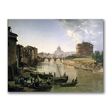 Trademark Fine Art Silvester Shchedrin 'New Rome with the Castel' Canvas Art 24x32 Inches