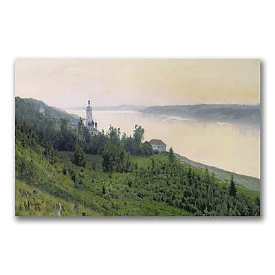Trademark Fine Art Isaac Levitan 'Cold Landscape' Canvas Art