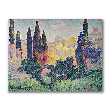 Trademark Fine Art Henri Edmond Cross 'The Cypresses at Cagnes' Canvas Art