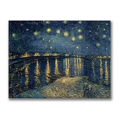 Trademark Fine Art Vincent van Gogh 'The Starry Night II' Canvas Ar 35x47 Inches