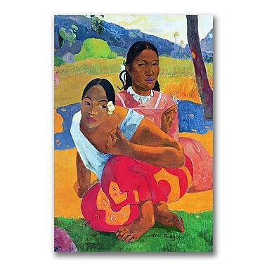 Trademark Fine Art Paul Gauguin 'Nafea Faaipoipo' Canvas Art 16x24 Inches