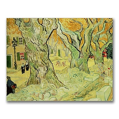 Trademark Fine Art Vincent Van Gogh 'The Road Menders' Canvas Art