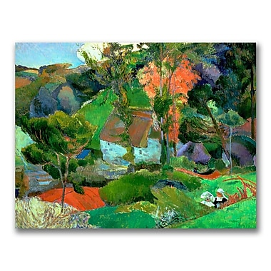 Trademark Fine Art Paul Gauguin 'Landscape at Pont Aven' Canvas Art 24x32 Inches