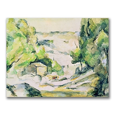 Trademark Fine Art Paul Cezanne 'Countryside in Provence' Canvas Art 18x24 Inches