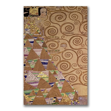 Trademark Fine Art Gustav Klimt 'Expectations' Canvas Art
