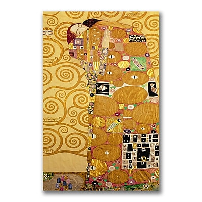 Trademark Fine Art Gustav Klimt, 'Fulfillment' Canvas Art 14x24 Inches