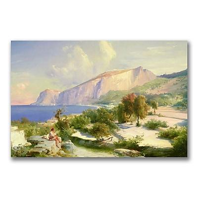 Trademark Fine Art Karl Blechen 'The Marina Grande' Canvas Art