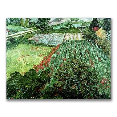 Trademark Fine Art Vincent Van Gogh 'Field with Poppies' Canvas Art