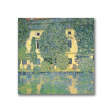 Trademark Fine Art Gustav Klimt, 'The Schloss Kammer on the Atterse' Canvas Art