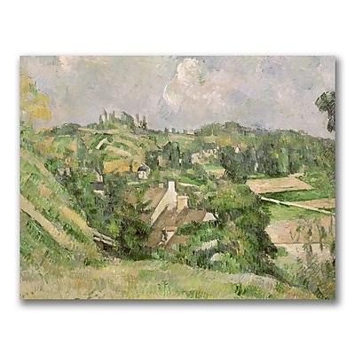 Trademark Fine Art Paul Cezanne 'Auvers-sur-Oise' Canvas Art 24x32 Inches