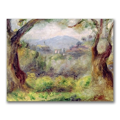 Trademark Fine Art Pierre Renoir 'Landscape at Les Collettes' Canvas Art 18x24 Inches