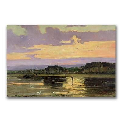 Trademark Fine Art Marie Iwill 'Solitude in the Evening' Canvas Art