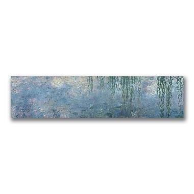 Trademark Fine Art Claude Monet Waterlillies Morning' Canvas Art 14x47 Inches