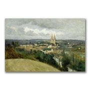Trademark Fine Art Jean Baptiste Corot 'General Veiw of the Town' Canvas